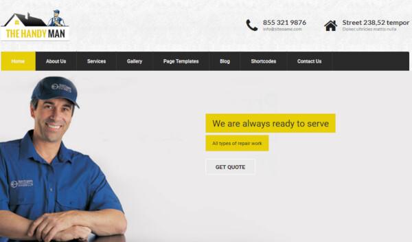 SKT Handyman Pro – Mobile Friendly WordPress Theme