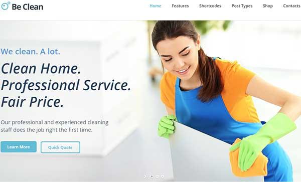 Be Clean – Responsive WordPress Theme