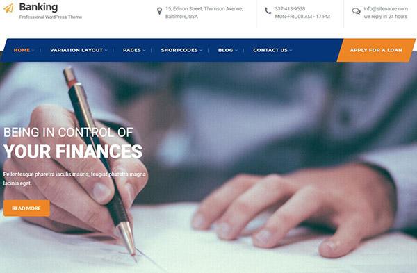 SKT Banking – Animation Compatible WordPress Theme