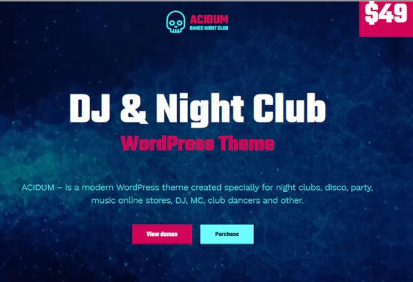 Acidum – Stylish WordPress Theme