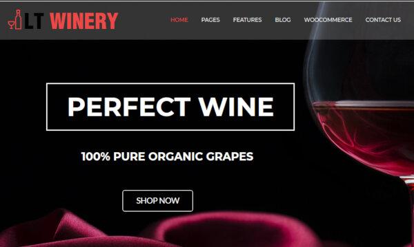 LT Winery – Elegant WordPress Theme