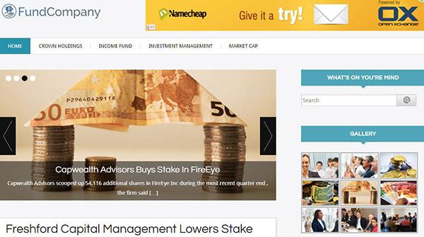 FundCompany – Ad Banner Compatible WordPress Theme