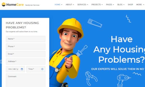HomeCare – Structured WordPress Theme