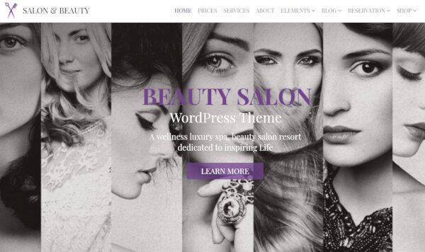 Salon & Beauty – Modern WordPress Theme