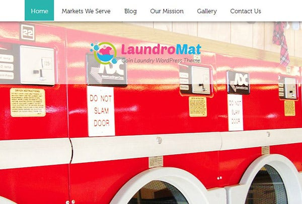 LAUNDROMAT – Professional WordPress Theme