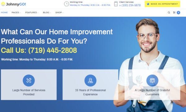 JohnnyGo – Project Supported WordPress Theme