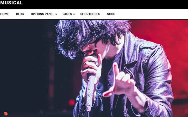 Musical-One-click installation WordPress Theme