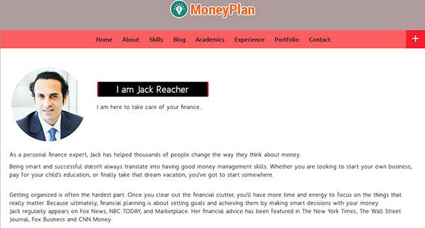 MoneyPlan – One Page WordPress Theme