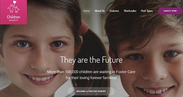 Children Charity – Form Builder Supported WordPress Theme