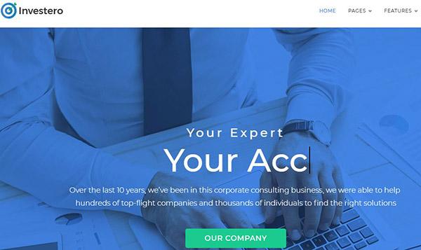 Investero – Mobile Compatible WordPress Theme
