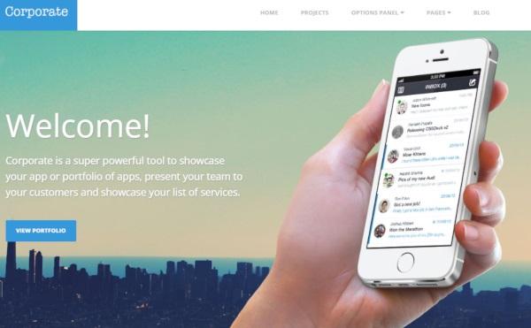 Corporate - Mobile-friendly WordPress Theme