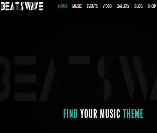 Beatswave - Fully responsive WordPress Theme