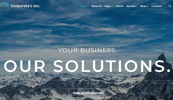 Corporate's Inc – Cherry WordPress Theme