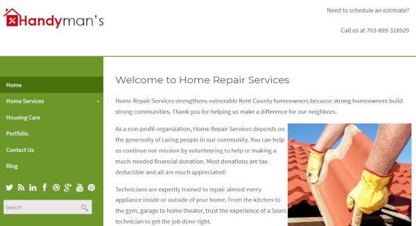 Handyman – Easy-to-use WordPress Theme