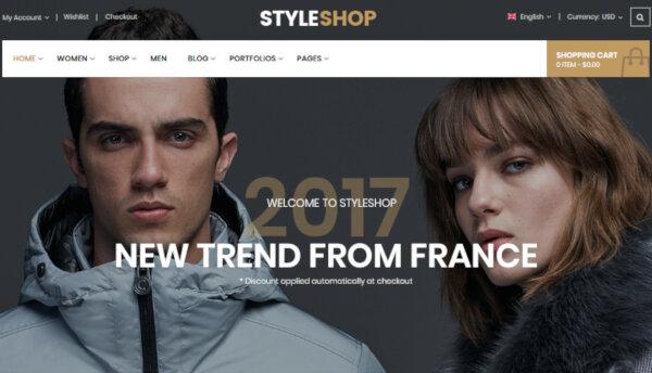 StyleShop – Customizable WordPress Theme