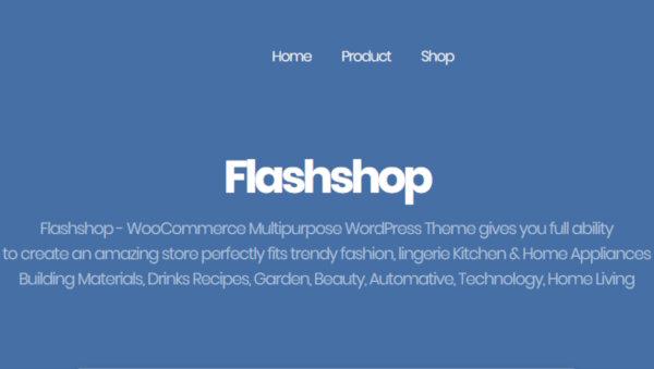 FlashShop – Powerful WordPress Theme