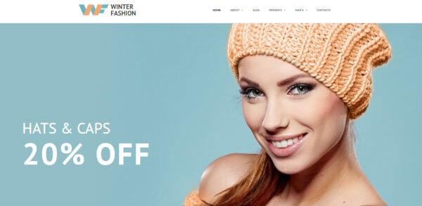 Winter Fashion – Beautiful WordPress Theme