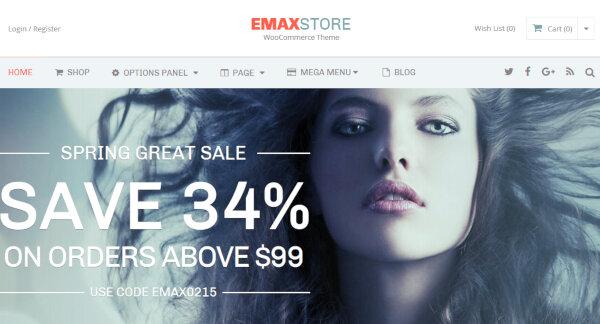 eMaxStore – Powerful WordPress Theme