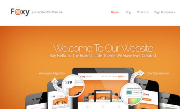 Foxy – Cross-Browser compatible WordPress Theme