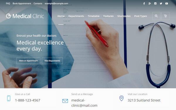 Medical Clinic – Professional WordPress Theme