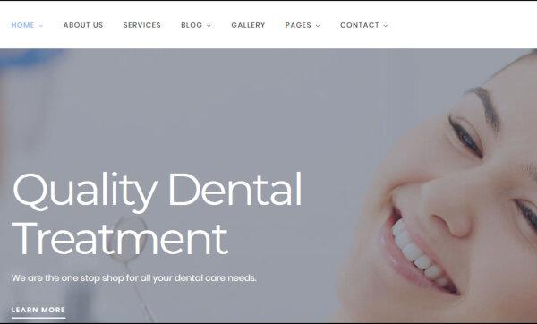 Dentist – Professional WordPress Theme