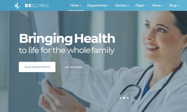 BeClinic – Responsive WordPress Theme