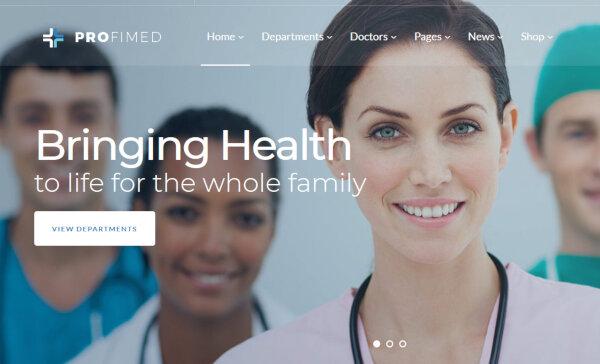 Profimed – Professional WordPress Theme