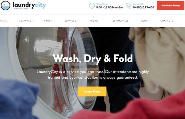 15  laundry shop wordpress themes  u0026 templates 2019