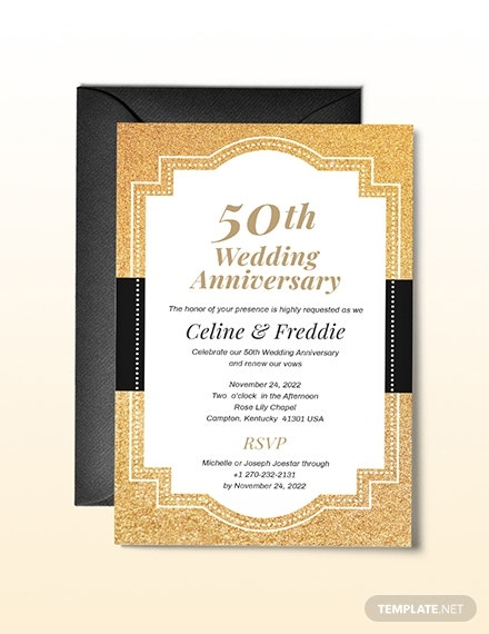 50th wedding anniversary invitation template1