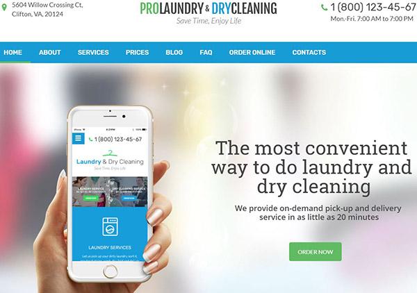 Laundry & Dry Cleaning – Modern WordPress Theme