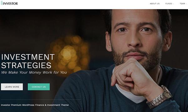 Investor – Customizable WordPress Theme