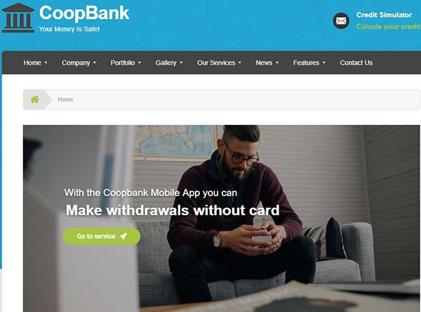 CoopBank – Credit Simulator WordPress Theme