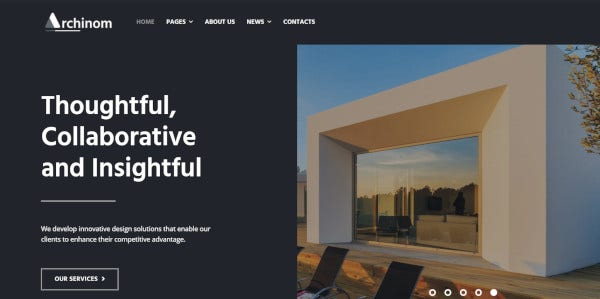 archinom elementor architect wp themes