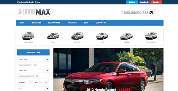 automax feature rich wordpress theme
