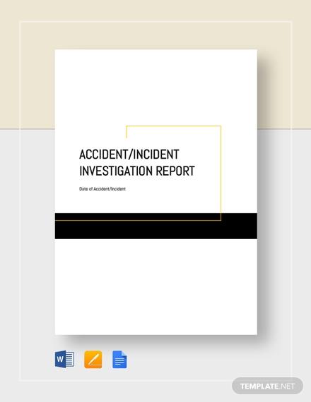accident incident investigation report 6