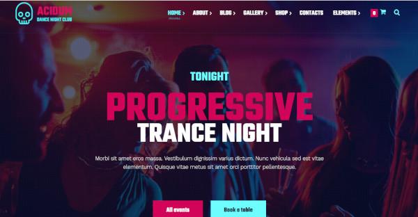 acidum – progressive nightclub wp theme