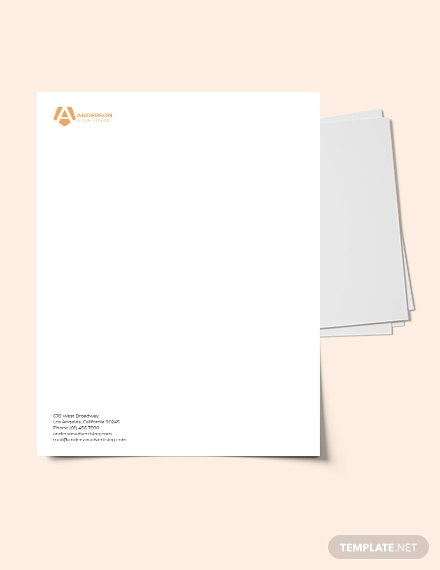 advertising agency letterhead example