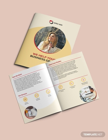 advertising consultant bifold brochure