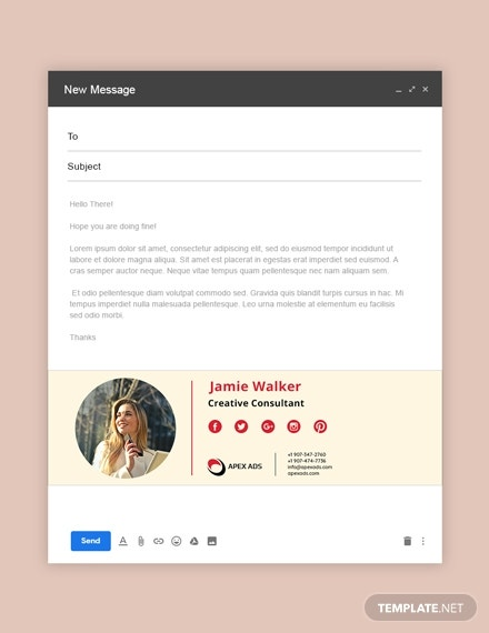 advertising consultant email signature