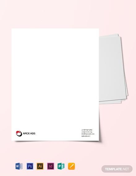 advertising-consultant-letterhead-template