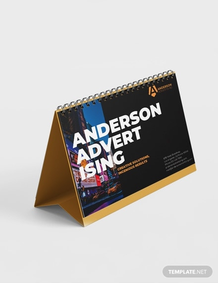 advertising desk calendar