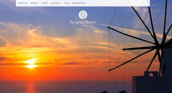 aegean resort flexible layout options wordpress theme