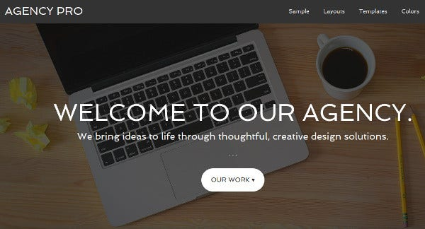 agency pro customizable header wordpress theme