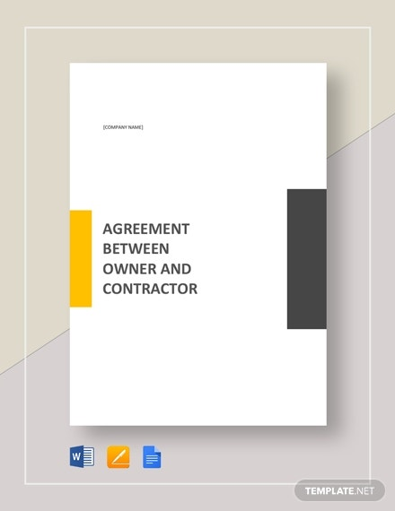 agreement between owner and contractor template