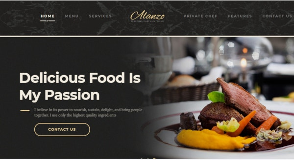 alanzo restaurant and catering wordpress theme