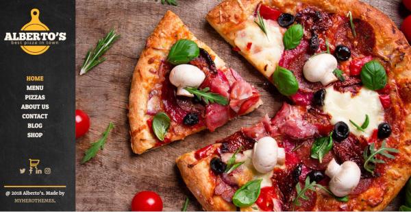 albertos restaurant pizza and fast food wordpress theme