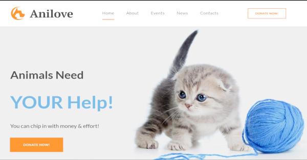 anilove animal shelter wordpress theme