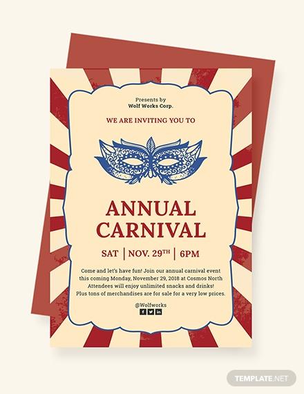 annual carnival invitation template