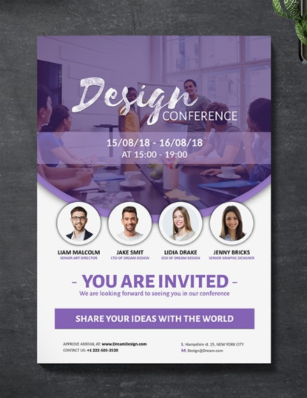 annual design conference invitation layout