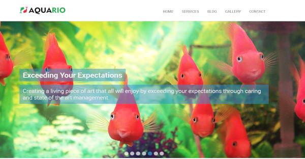 aquario – aquarium wordpress theme